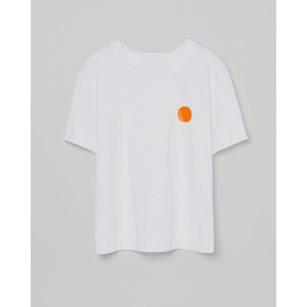 Loreak Fluro Dot Heavy Slub Tee White/Orange