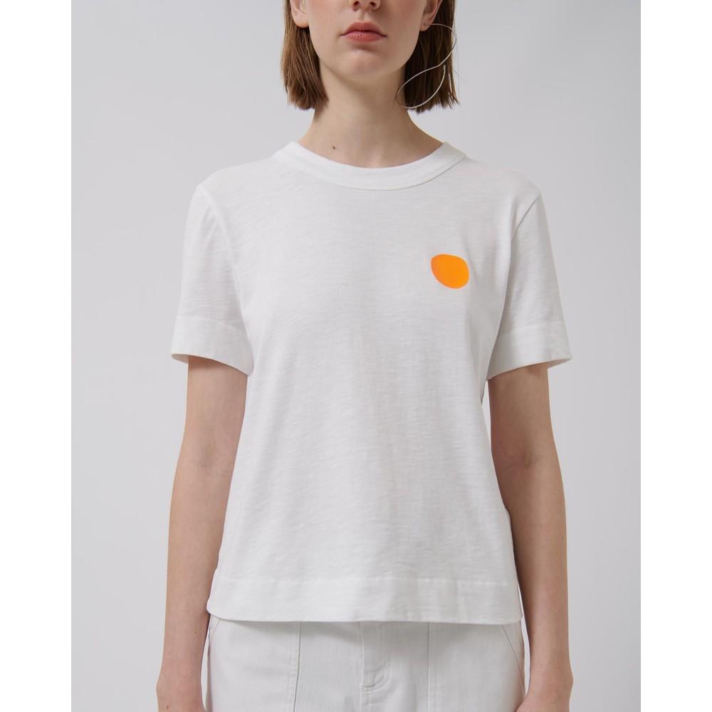Loreak Fluro Dot Heavy Slub Tee White/Orange