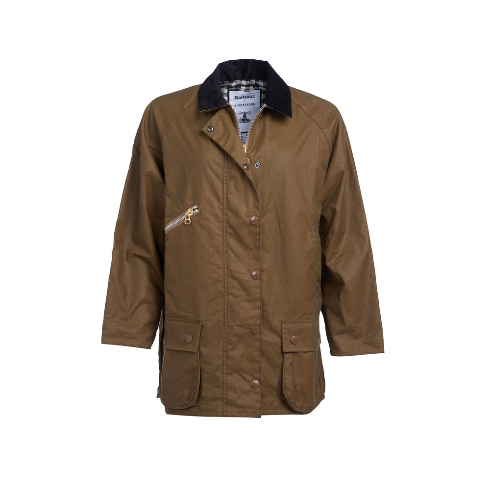 Barbour Edith Wax Jacket Sand/Northumberland