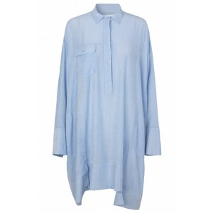 Edson O/Sized Shirt Dress Blue