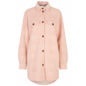 Edmond Dogtooth Coat Pink/White