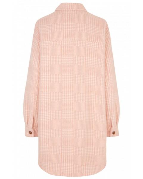 Munthe Edmond Dogtooth Coat Pink/White