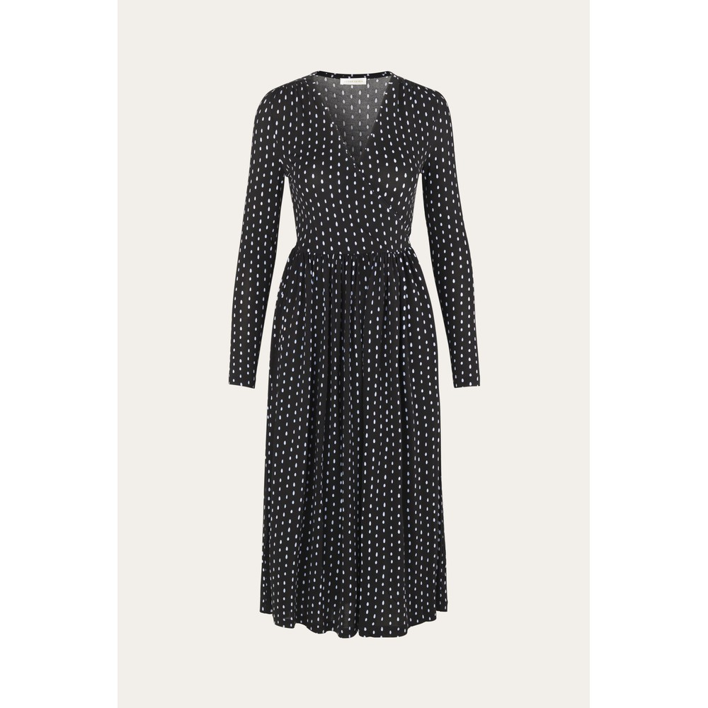 Stine Goya Alina L/S V/N Dot Dress Oval Dot