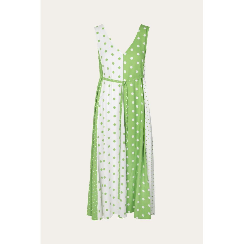 Stine Goya Yara S/L Dots Drs Green/White