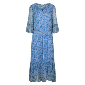 Ketty Floral Print Dress French Blue