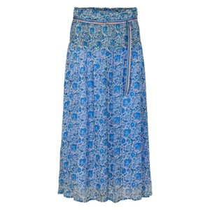 Selma Floral Print Skirt French Blue