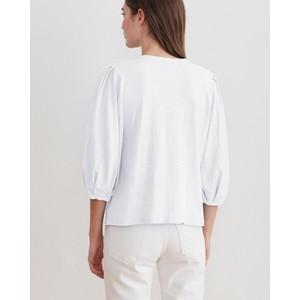 Velvet Joanna Puff Sleeve Top White