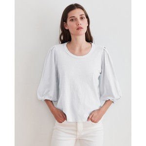 Velvet Joanna Puff Sleeve Top White