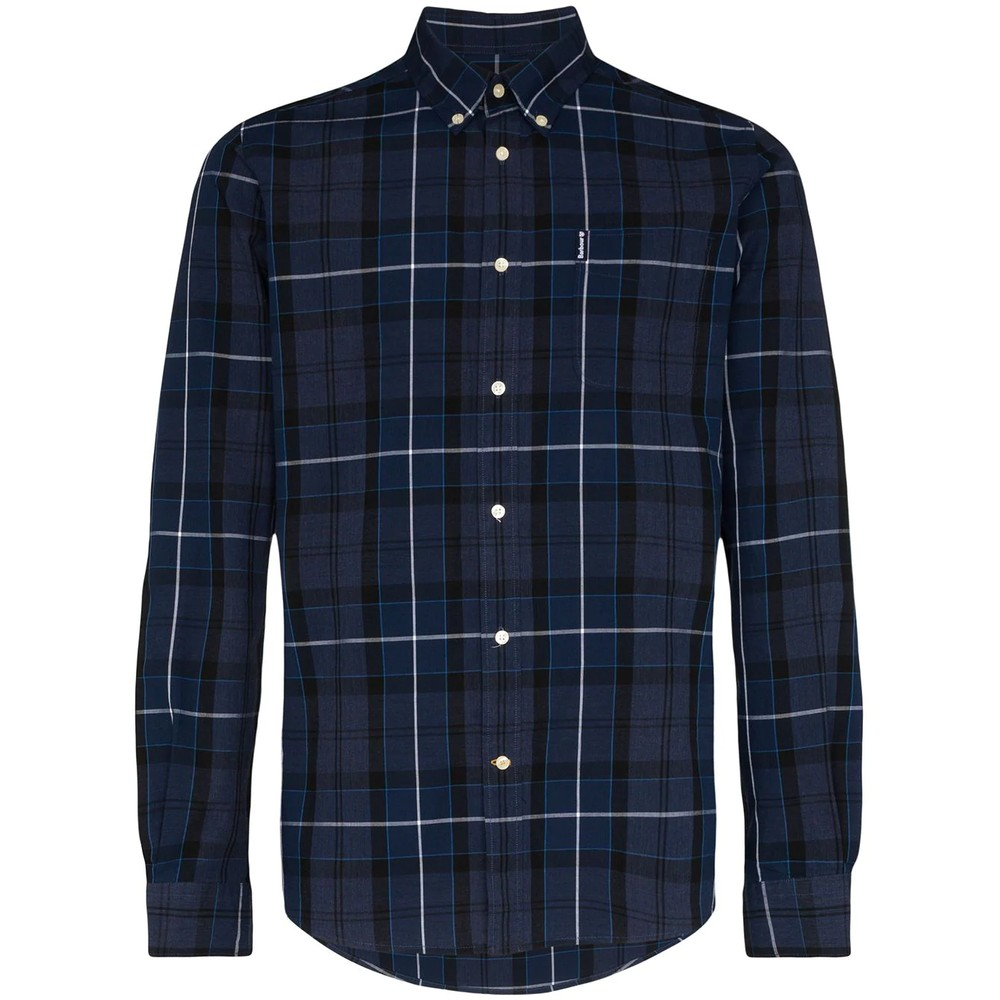 Barbour Sandwood Check Shirt-Tailored Inky Blue