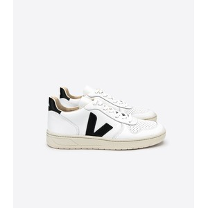 V-10 Leather Trainer Extra White/Black