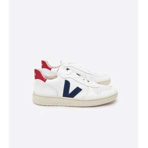 V-10 Leather Trainer Extra White/Nautico/Pekin