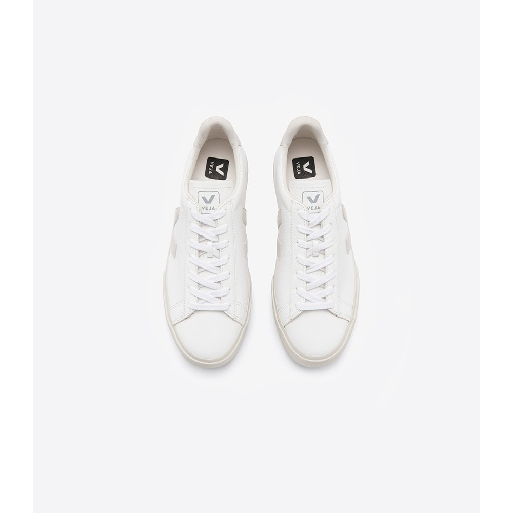 Veja Campo Leather Trainer White/Natural