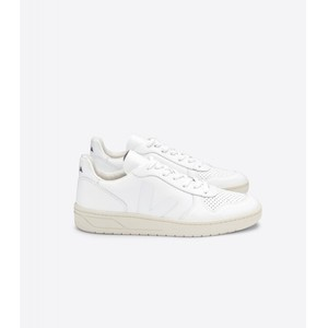 V-10 Leather Trainer Extra White