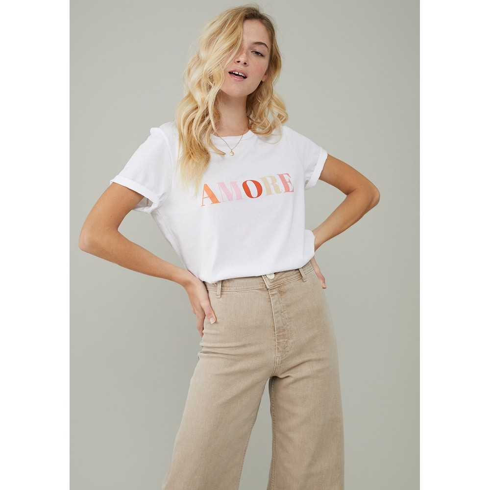 South Parade Lola Amore T Shirt White