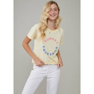 Jane Sunset Cocktails T Shirt Vanilla