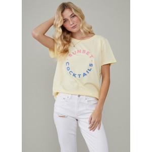 South Parade Jane Sunset Cocktails T Shirt Vanilla