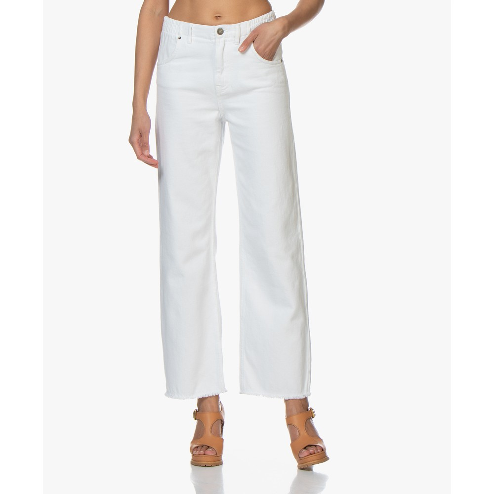 American Vintage Tineborow Wide Leg Trousers White