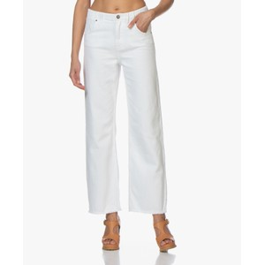 Tineborow Wide Leg Trousers White