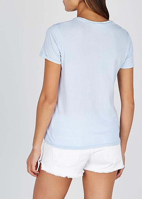 American Vintage Vegiflower S/S T Shirt Sky Blue