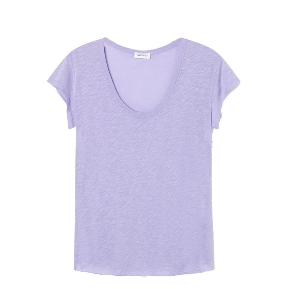 American Vintage Lorkford Scoop Nk T Shirt Violet