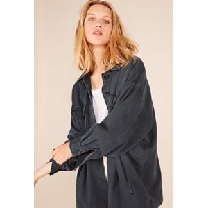 American Vintage Tita Padded Denim Jacket Carbon