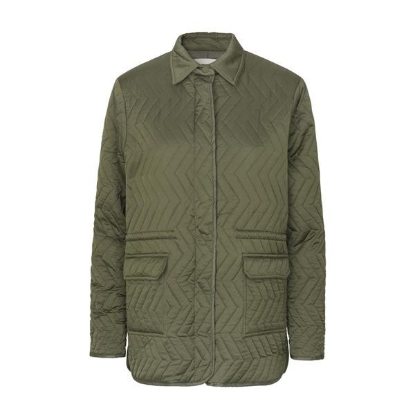 Levete Room Imma Quilted Jacket Dusty Olive