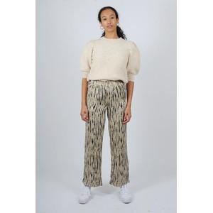 Levete Room Ideia Print Trousers Angora/Combi