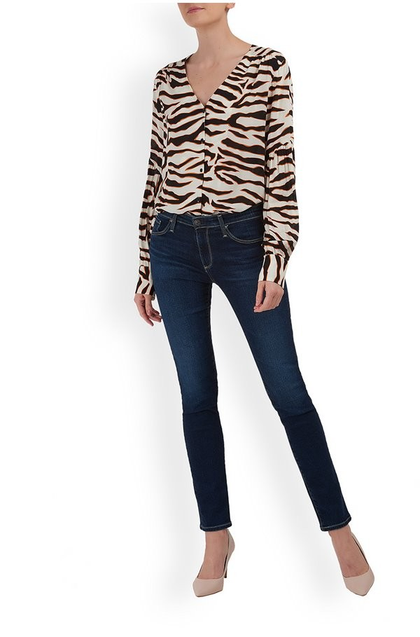 Levete Room V/n Zebra print Shirt Cream/Brown