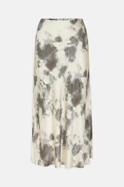 Levete Room Marble Print Skirt Cream/Mushroom