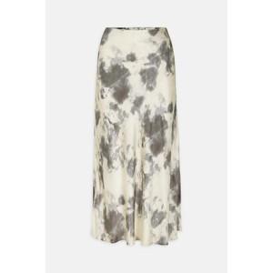 Marble Print Skirt Cream/Mushroom