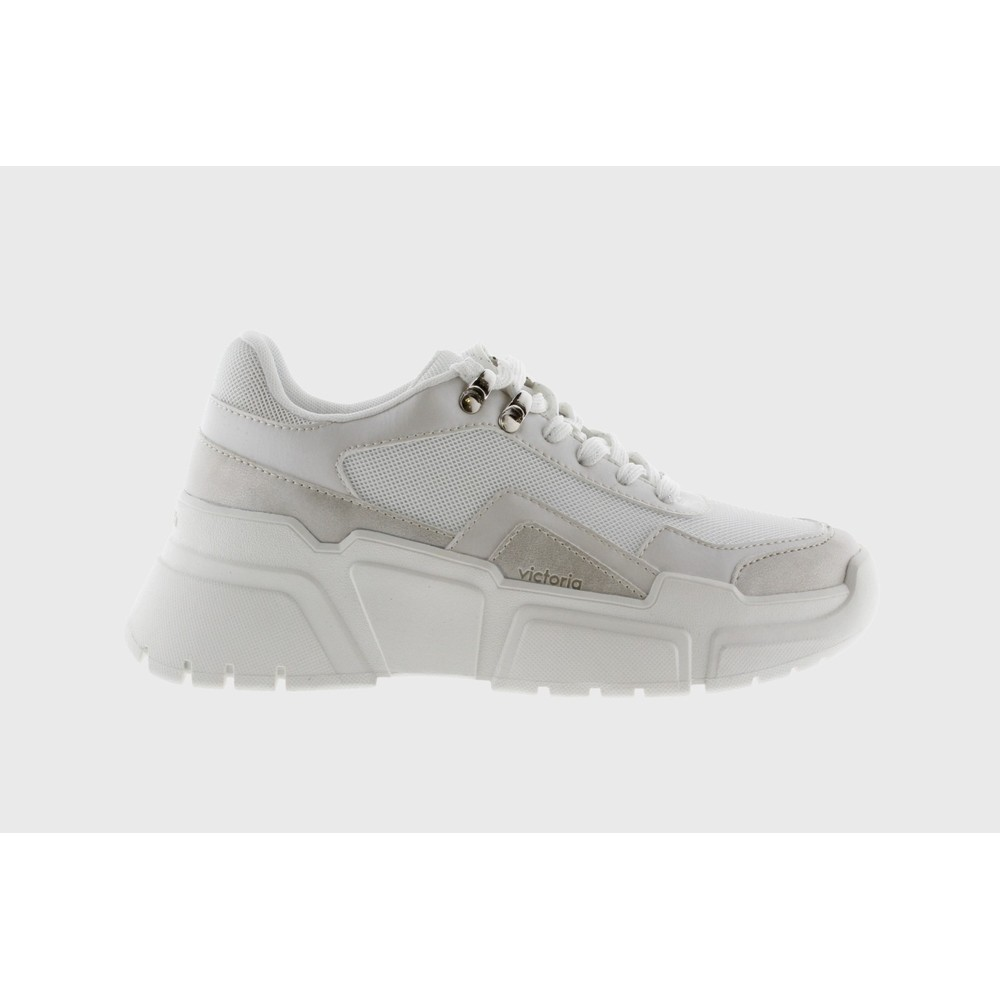 Victoria Chunky Lace Up Trainer White