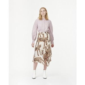 Jeez Cat Print Skirt Camel/Black