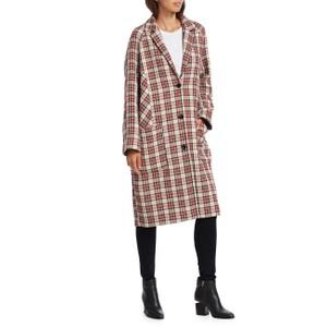 Jarl Tartan Check Coat Camel/Red/Black