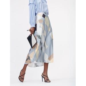 Munthe Eastvale Printed Long Skirt Powder Blue/Multi
