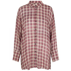 Munthe Janelle Tartan Long Shirt Beige/Red/Black