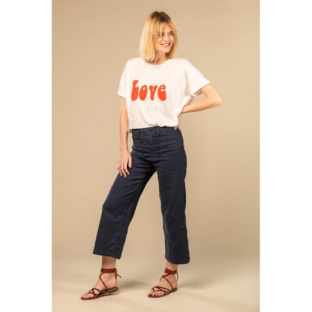 Five Lucia Wide Leg Cropped Navy