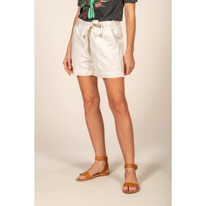 Felicie Belted Short Off White