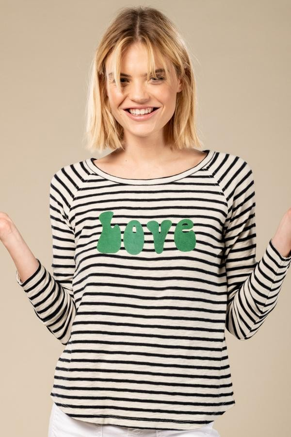 Five Love L/S Striped Tee Navy/White/Green