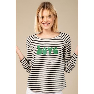 Love L/S Striped Tee Navy/White/Green