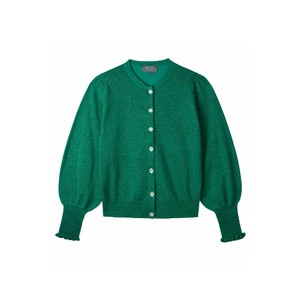 Wyse London Selena Lurex Cardigan Green