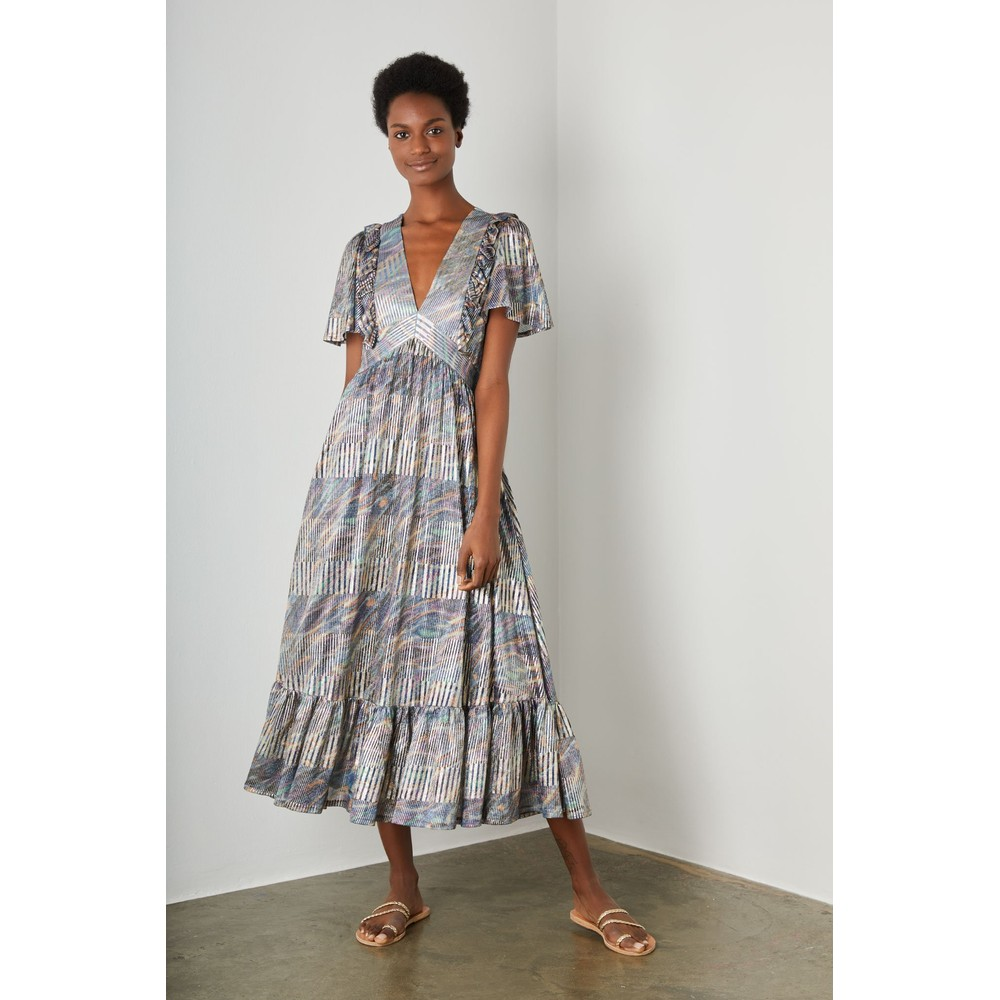 Wyse London Brigitte Lurex Dress Multi