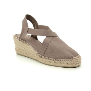 Ter Canvas Wedge with Stretch Sides Taupe