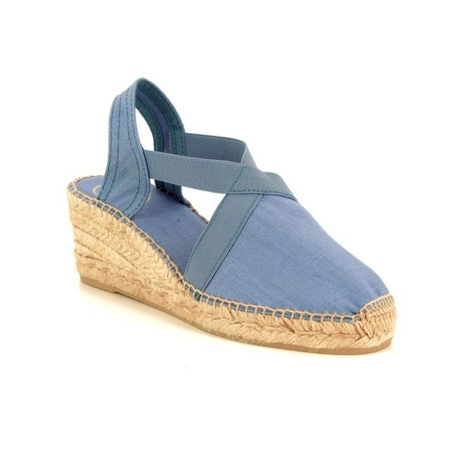 Toni Pons Ter Canvas Wedge with Stretch Sides Ultramarine