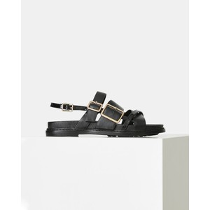 Joy Multi Strap Leather Sandal Black