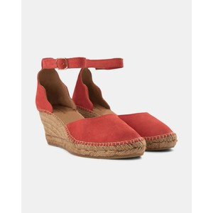 Shoe The Bear Salome Ankle Strap Wedge Coral Red