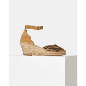 Shoe The Bear Salome Ankle Strap Wedge Tiger Tan