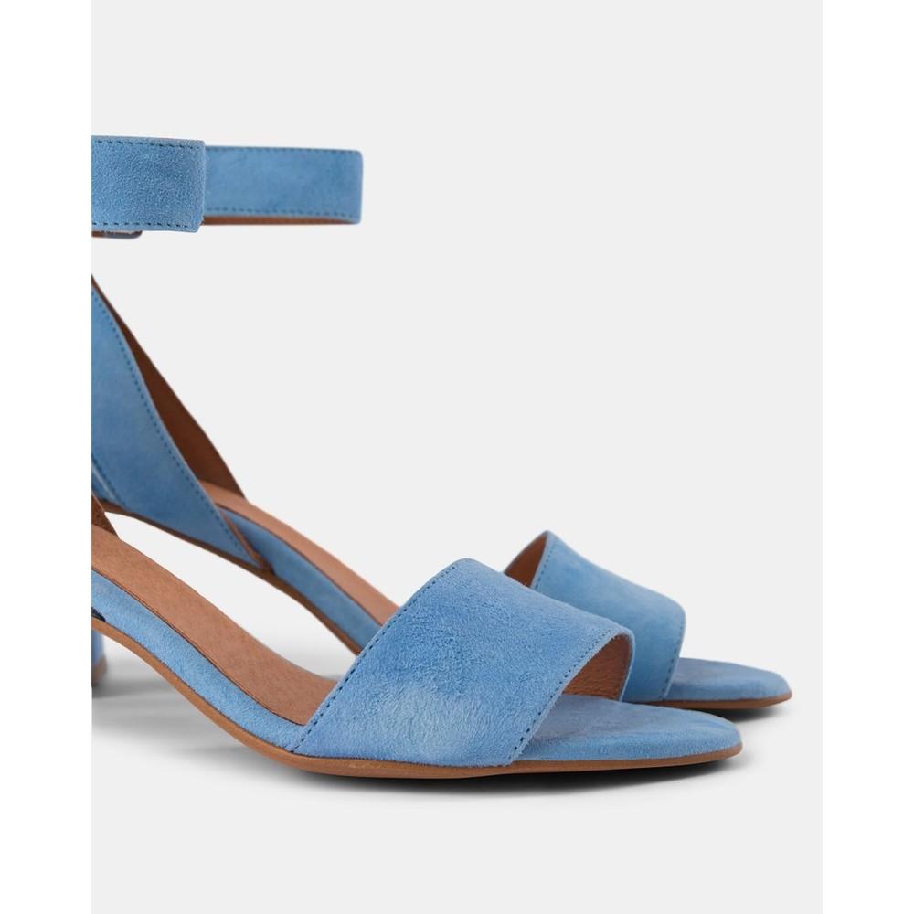Shoe The Bear May Wide Strap Block Heel Shoe Light Blue