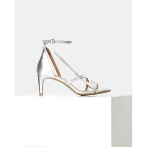 Roseanna Strap Heeled Sandal Silver