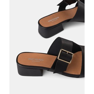 Shoe The Bear Cala Buckle Leather Sandal Black