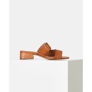 Cala Buckle Leather Sandal Tan